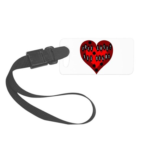 Bullet Hole Heart Small Luggage Tag