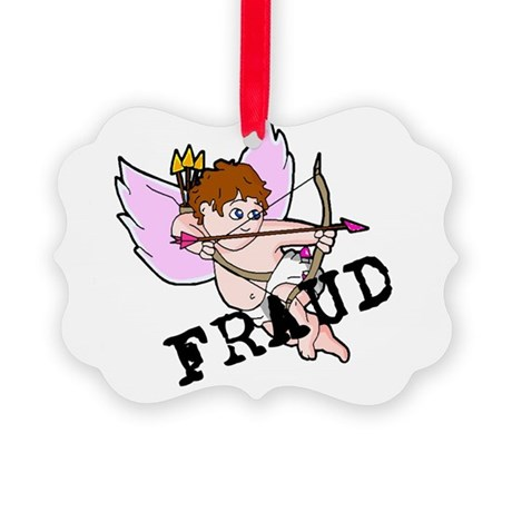 Cupid Fraud Picture Ornament