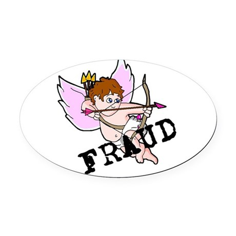 Cupid Fraud Oval Car Magnet