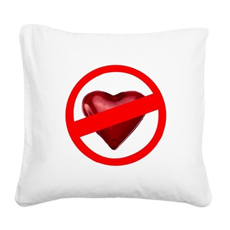 valentines Square Canvas Pillow