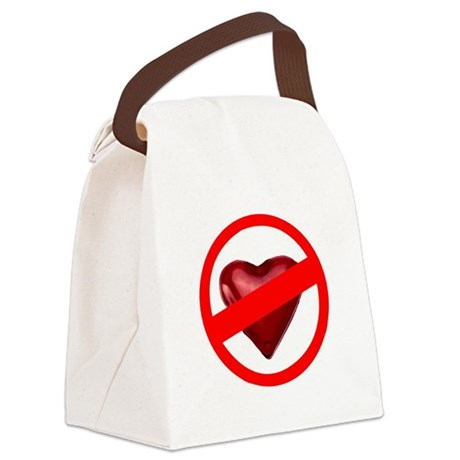 valentines Canvas Lunch Bag