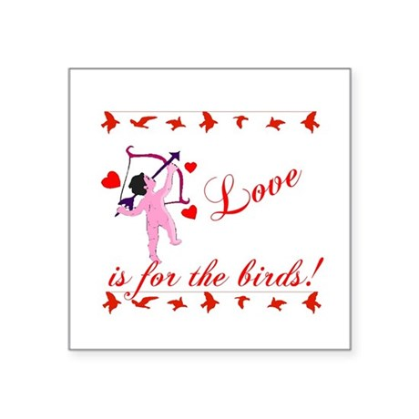 "cupid Square Sticker 3"" x 3"""