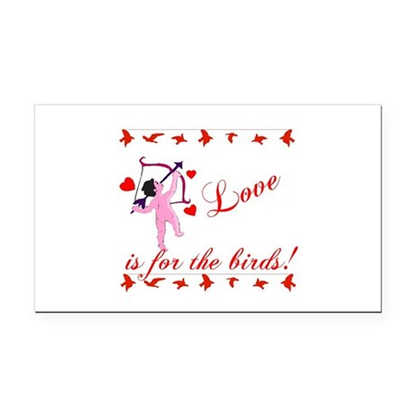 cupid Rectangle Car Magnet