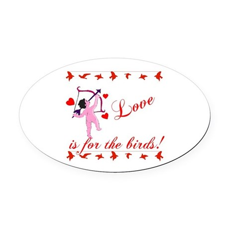 cupid Oval Car Magnet