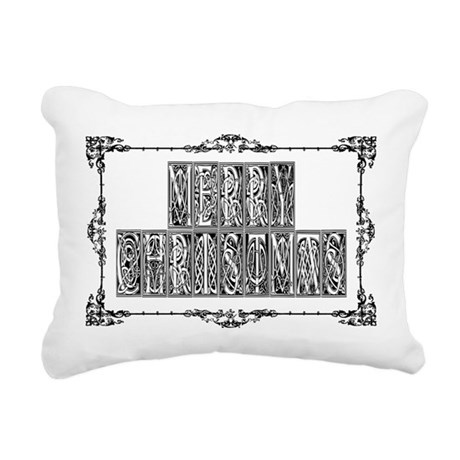 MerryChristmas.png Rectangular Canvas Pillow