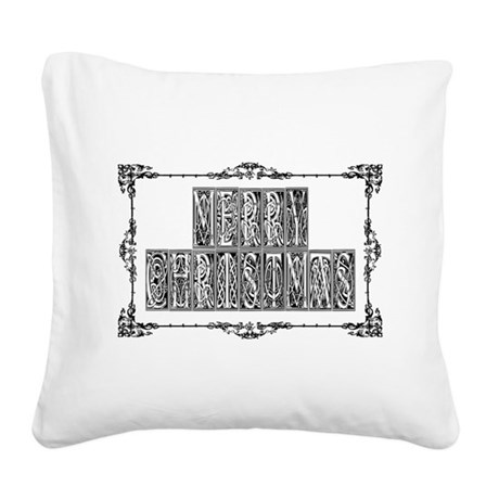 MerryChristmas.png Square Canvas Pillow