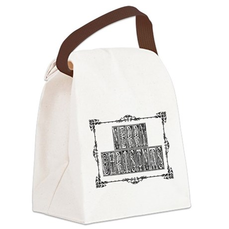 MerryChristmas.png Canvas Lunch Bag