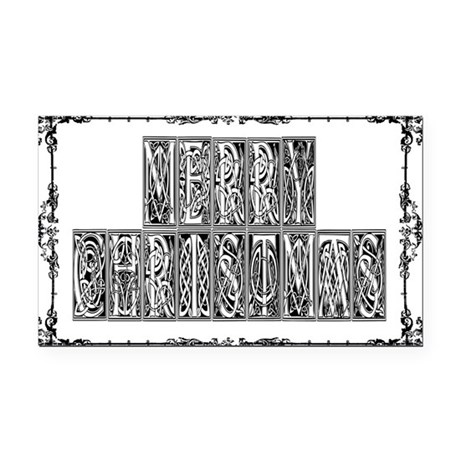MerryChristmas.png Rectangle Car Magnet
