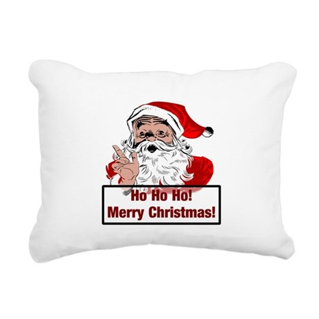 3-santa4b.png Rectangular Canvas Pillow