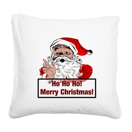 3-santa4b.png Square Canvas Pillow