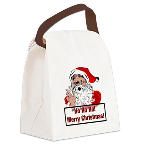 3-santa4b.png Canvas Lunch Bag