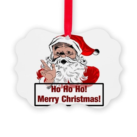 3-santa4b.png Picture Ornament