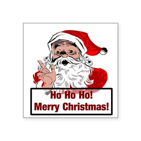 "3-santa4b.png Square Sticker 3"" x 3"""