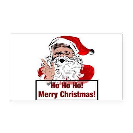 3-santa4b.png Rectangle Car Magnet