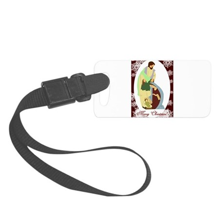 nativity2.png Small Luggage Tag