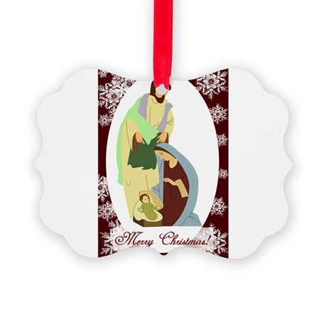 nativity2.png Picture Ornament