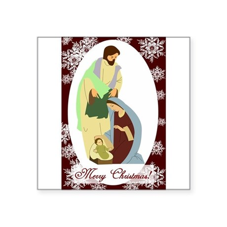 nativity2.png Square Sticker 3&quot; x 3&quot;