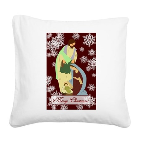 nativity2a.png Square Canvas Pillow