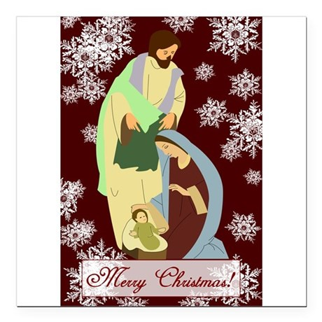 "nativity2a.png Square Car Magnet 3"" x 3"""