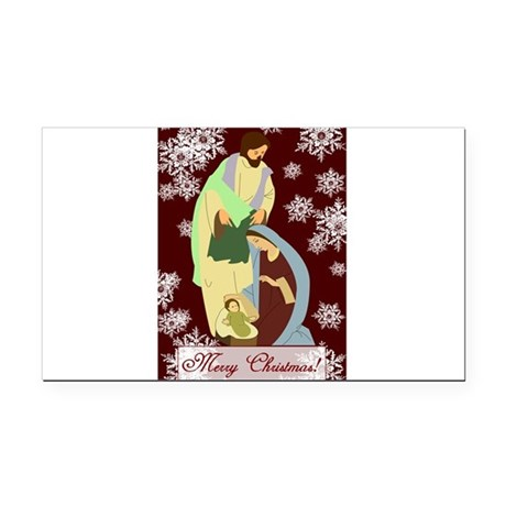 nativity2a.png Rectangle Car Magnet