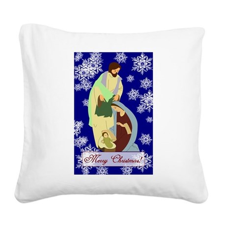 nativity2b.png Square Canvas Pillow