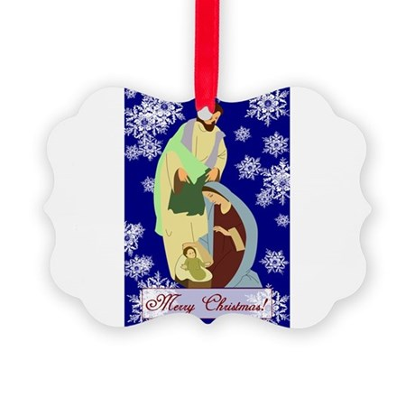 nativity2b.png Picture Ornament