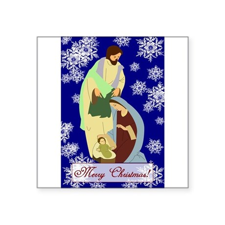 nativity2b.png Square Sticker 3&quot; x 3&quot;