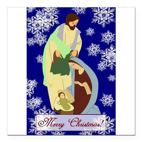 nativity2b.png Square Car Magnet 3&quot; x 3&quot;