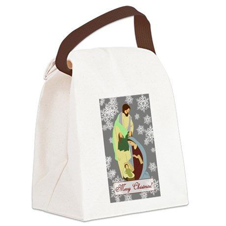 nativity2c.png Canvas Lunch Bag