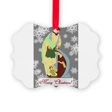 nativity2c.png Picture Ornament
