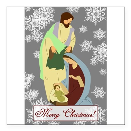 "nativity2c.png Square Car Magnet 3"" x 3"""