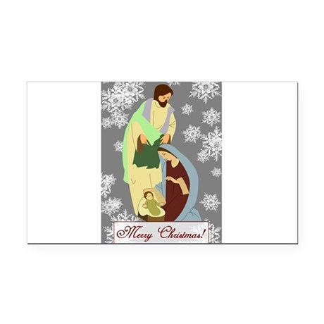 nativity2c.png Rectangle Car Magnet