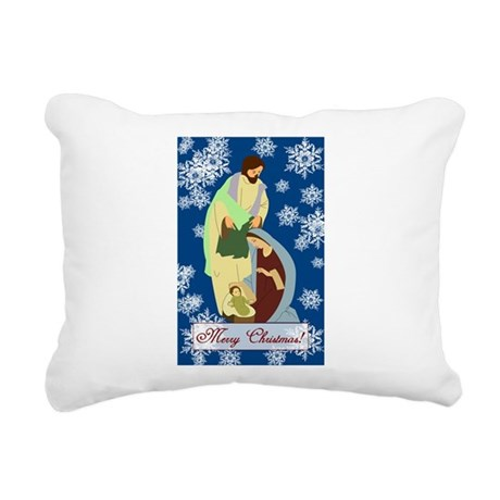 nativity2e.png Rectangular Canvas Pillow