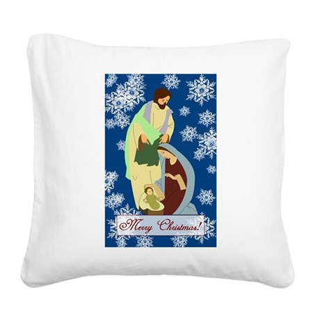 nativity2e.png Square Canvas Pillow