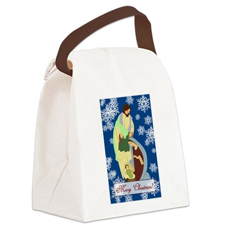 nativity2e.png Canvas Lunch Bag