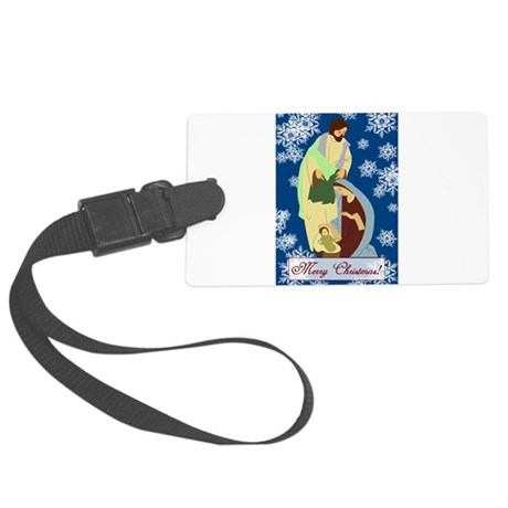 nativity2e.png Large Luggage Tag
