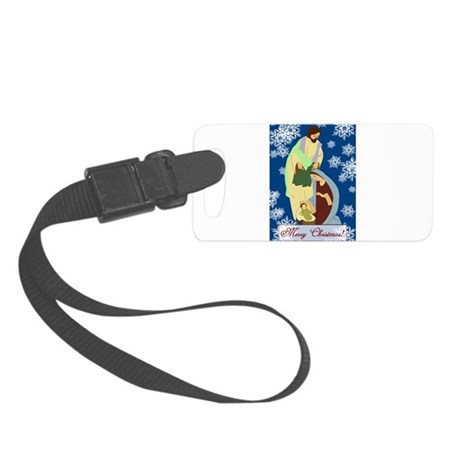 nativity2e.png Small Luggage Tag