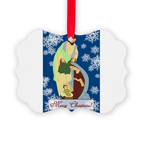 nativity2e.png Picture Ornament