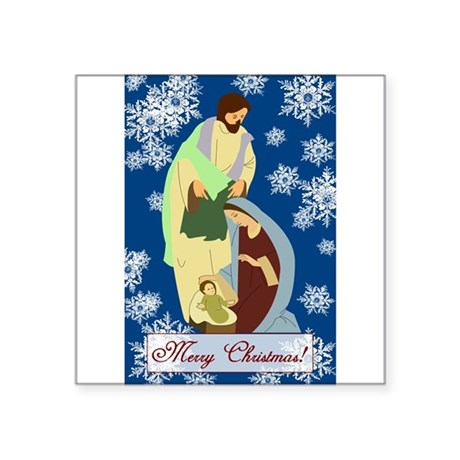 "nativity2e.png Square Sticker 3"" x 3"""