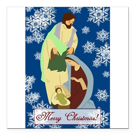 "nativity2e.png Square Car Magnet 3"" x 3"""
