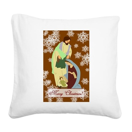 nativity2f.png Square Canvas Pillow