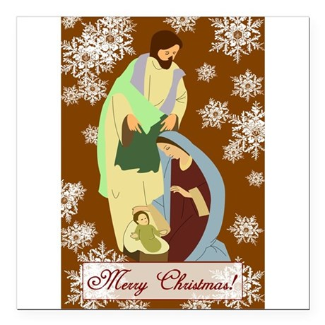 "nativity2f.png Square Car Magnet 3"" x 3"""
