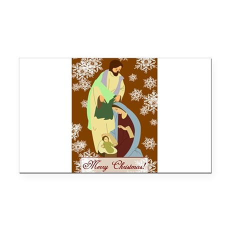 nativity2f.png Rectangle Car Magnet