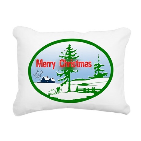 countrysnow2b.png Rectangular Canvas Pillow