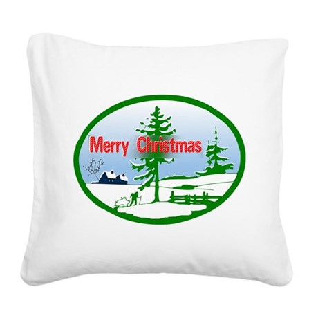 countrysnow2b.png Square Canvas Pillow