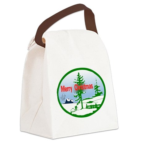 countrysnow2b.png Canvas Lunch Bag