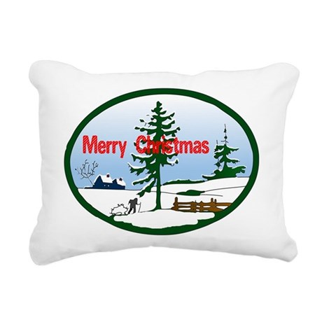 countrysnow2.png Rectangular Canvas Pillow