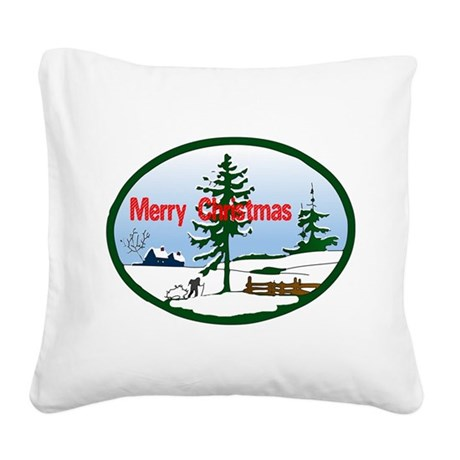 countrysnow2.png Square Canvas Pillow