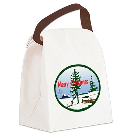 countrysnow2.png Canvas Lunch Bag