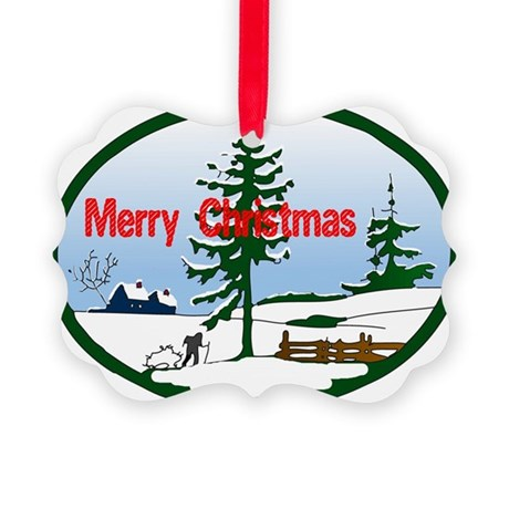 countrysnow2.png Picture Ornament